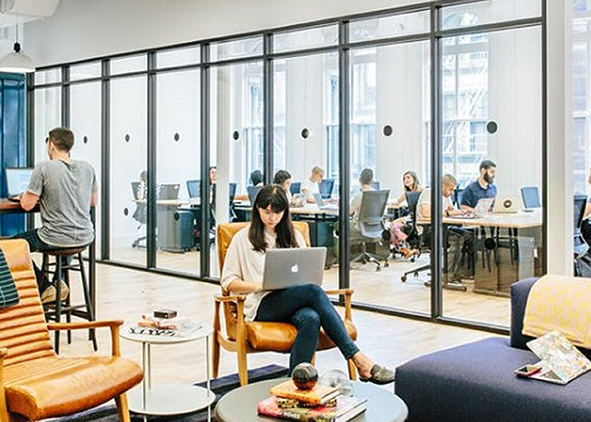 Coworking space area (credit: spaceworks Milano, 2018)