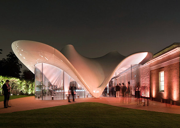 Zaha Hadid Architects (with Architen Landrell), Serpentine Sackler Gallery, London 2013 (credit: L. Hayes)