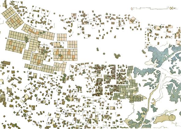 The city of Ouagadougou: Progressive transformation hypothesis (credit: P. Thépot, 2020). AGATHÓN 08 | 2020