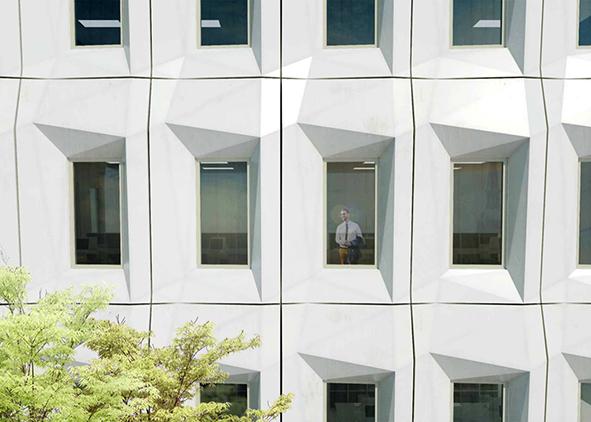 The Biobuild panel, structural façade component in biocomposite materials (source: tno.nl). AGATHÓN 08 | 2020