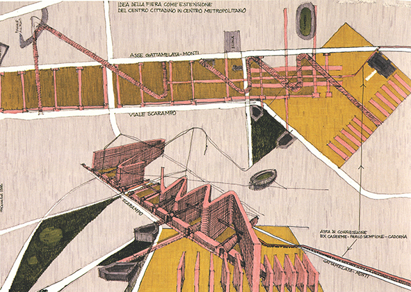 Guido Canella, Project of the new Settlement of the Polytechnic University in the Bovisa district, 1986. AGATHÓN 07 | 2020